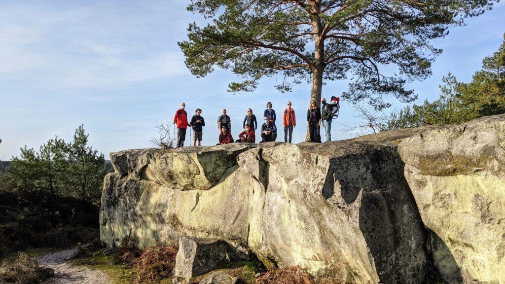 Nos participants à la randonnée, âgés de 1 à 65 ans.